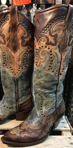 Looks Country, Lady, Cowboy Boots Women, Western Boots For Women, Western Wear, Artificial Leather, Knee High Boots, Ankle Boots, Brown Boots