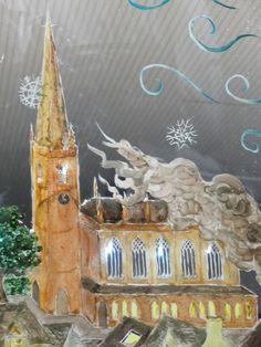 'Snow Queen' mural window detail winter 2017