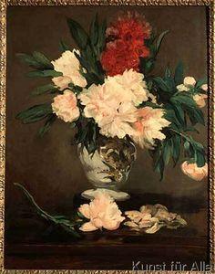 Edouard Manet - Vase de pivoines sur piédouche