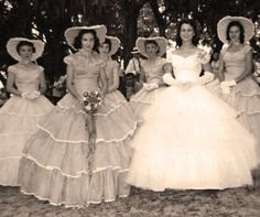 I thank God every day that women don't do THIS to bridesmaids anymore... but the #vintage #wedding gown is still stunning! Looking for your dream wedding dress? www.etsy.com/shop/blueeyedboutique
