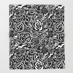 A Profusion of Flowers III Throw Blanket