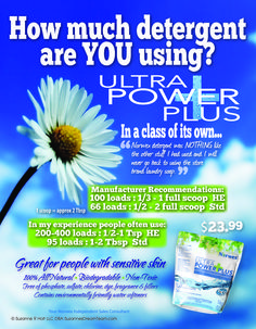 Norwex Ultra Power Plus is in a class of it's own. Check it out at www.suzanneholt.norwex.biz.