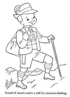 Children of Other Lands, 1954 – England, Sweden, Hungary, Czechoslovakia & Austria – Q is for Quilter Stitch Coloring Pages, Flag Coloring Pages, Online Coloring Pages, Disney Coloring Pages, Mandala Coloring Pages, Coloring Pages For Kids, Coloring Books, Austria, Ninja Turtle Coloring Pages