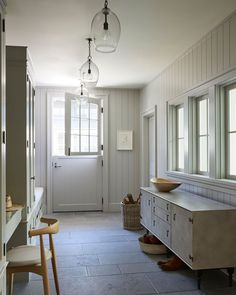 Veryyyy seriously considering doing a Dutch door in the mudroom at and this gorgeous space by is making a strong case for it. Are you team Dutch door? Santa Monica Houses, Glass Light Fixtures, Design Firms, Mudroom, Farmhouse Decor, Modern Farmhouse, Diy Home Decor, Bedroom Decor, New Homes