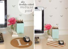 Create a custom and elegant mouse pad. Bonus: It's reversible! Tutorial at ThinkCrafts.com