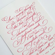 love getting gorgeous valentine's mail... thank you grace! ♥ #letterpress…