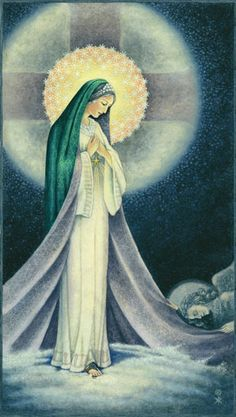"""When Elizabeth heard Mary's greeting, the infant leaped in her womb, and Elizabeth, filled with the holy spirit, cried out in a loud voice and said, """"Most blessed are you among women, and blessed is the fruit of you womb.  And how does this happen that the mother of my Lord should come to me? Blessed are you! Luke 1"""