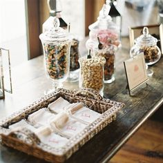 DIY Trail Mix Bar Different from the candy bar