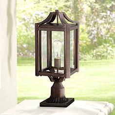 """Rockford Collection 20 1/4"""" High Bronze Outdoor Post Light"""