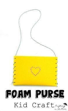 Make a purse with craft foam