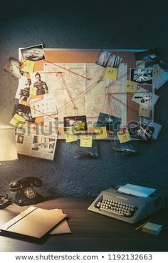 Detective Board Evidence Crime Scene Photos Stock Photo (Edit Now) 1192132663