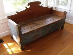 Reserved - Primitive Storage Bench - Antique Furniture - Chest - Folk Art. $2,000.00, via Etsy. LOVE this...so beautiful!