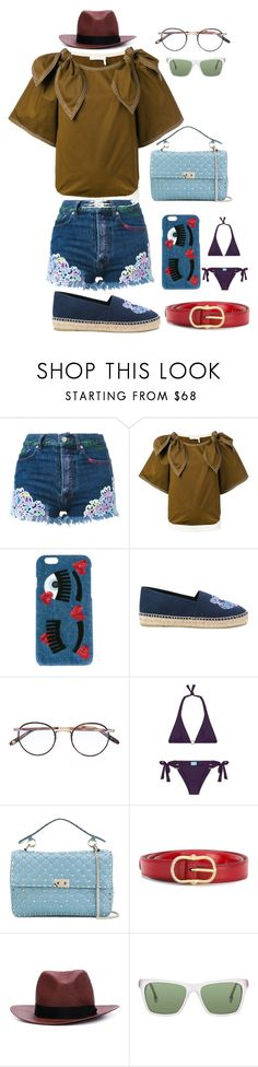 """Think Different"" by gadinarmada-1 ❤ liked on Polyvore featuring Forte Couture, Chiara Ferragni, Kenzo, Garrett Leight, Melissa Odabash, Valentino, rag & bone and Steven Alan"