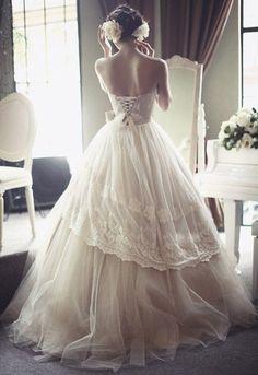 Ethereal Wedding Dress; classic.