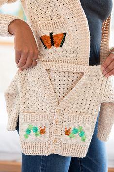 Crochet Baby Sweater Pattern, Crochet Baby Jacket, Crochet Baby Sweaters, Baby Sweater Patterns, Crochet Baby Clothes, Baby Crochet Patterns, Crochet Blouse, Knitting Patterns, Crochet For Kids