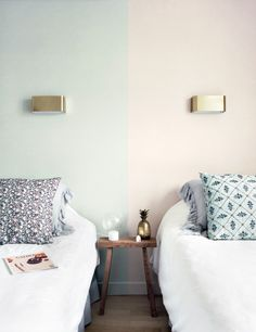 dual painted headboards