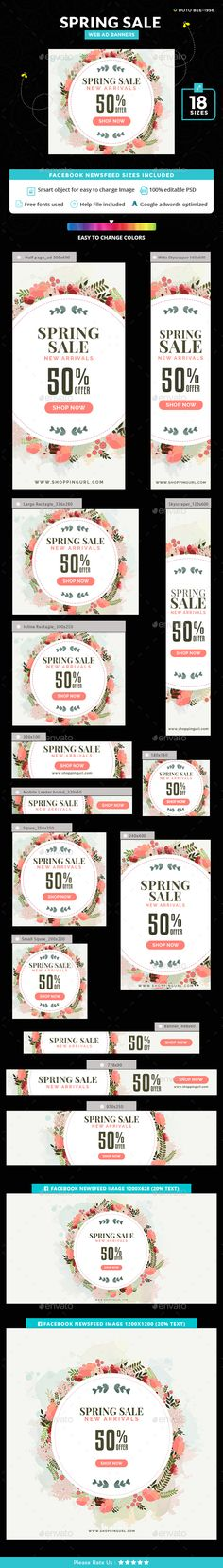 Spring Sale Banners - Banners & Ads Web Elements Download here : https://graphicriver.net/item/spring-sale-banners/19699940?s_rank=10&ref=Al-fatih