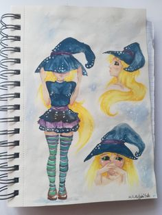 #art #draw #paint #watercolor #COPICciao #witch #girl