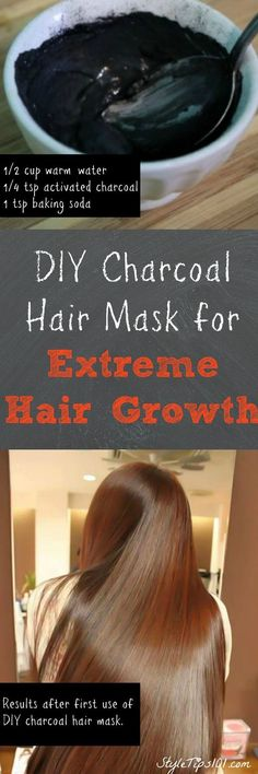 Activated Charcoal Hair Mask Leaves hair extremely soft, silky, and encourages FAST hair growth!Leaves hair extremely soft, silky, and encourages FAST hair growth! Extreme Hair Growth, Hair Growth Tips, Diy Hair Care, Hair Care Tips, Hair Tips, Hair Ideas, Natural Hair Care, Natural Hair Styles, Natural Beauty