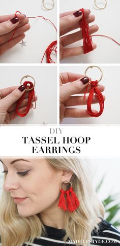 DIY Tassel Hoop Earrings | How To Make Your Own
