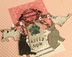 #KittyMum #keychain, #catgift, #Catlover gift, #catDad #catMum, #HandStamped, Key Chain, #Giftforher, #Giftforhim, #ukseller,