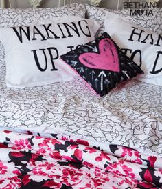 Bethany Mota Bedroom Decor Line alarm clock pillow case set from aeropostale | aeropostale