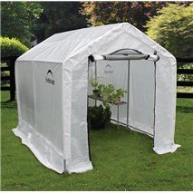 x 8 ft. x 8 ft. Backyard Greenhouse You& love the GrowIT 6 Ft. W x 8 Ft. D Greenhouse at… - Greenhouse Film, Walk In Greenhouse, Portable Greenhouse, Backyard Greenhouse, Greenhouse Growing, Greenhouse Ideas, Real Plants, Growing Plants, Best Insulation