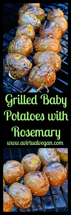 These deliciously sweet grilled baby new potatoes are slightly charred & crispy on the outside & soft & creamy on the inside. They will become your most requested side this summer! #grillingrecipes