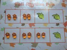 fall-themed rhythm activity