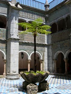 Courtyard at The Pena National Palace, Portugal