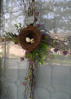 Easter Cross Bird's nest wreath