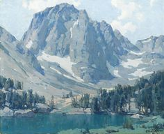 """EDGAR PAYNE Mount Alice Oil on Canvas 28"""" x 34"""""""