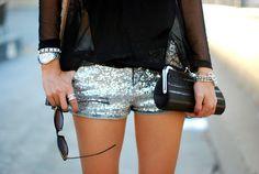 Sparkle shorts. So cute!