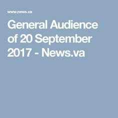 General Audience of 20 September 2017 - News.va