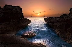 Aruba sunset.