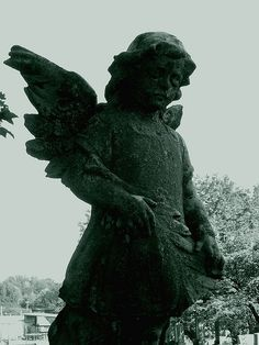 Cemetery Angel Statue 001 by clm_photography, via Flickr