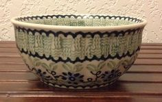 Polish Pottery Small Fluted Bowl by MimisMiniMarketplace on Etsy, $20.00