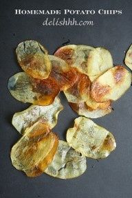 Homemade Potato Chips #Chips #Dips #Salsa #Potato #Kettle #Corn #Rice