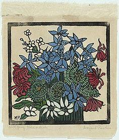 Margaret Preston Australian Painting, Australian Artists, Botanical Illustration, Botanical Art, Margaret Preston, Victoria Art, Australian Wildflowers, National Art, Arts And Crafts Movement