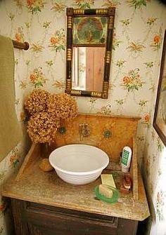 1000 images about country bathrooms on pinterest primitive bathrooms primitives and dry sink. Black Bedroom Furniture Sets. Home Design Ideas