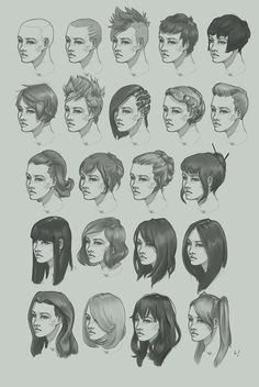 Draw Hairstyles drawing hairstyle Study from the other day. About 15 mins each. Half are from reference. I'm somewhat busy right now and have been travelling a lot these past few months, and my semester break is almost over already. Female Drawing, Guy Drawing, Drawing Poses, Drawing People, Drawing Ideas, Drawing Male Hair, Female Art, Figure Drawing Reference, Hair Reference