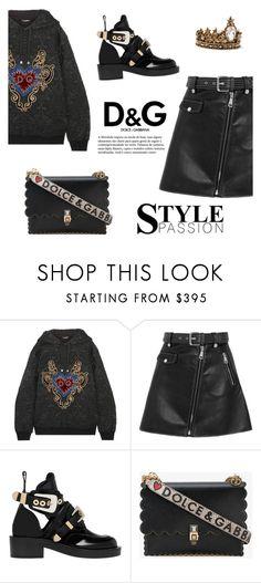 """Outfit #45: Dolce & Gabbana x Balenciaga x Maje"" by mariluz-garcia ❤ liked on Polyvore featuring Dolce&Gabbana, Maje, Balenciaga, D&G and Alexander McQueen"