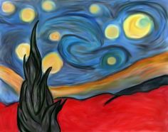 "i hope u like it... Is my free version of Vincent Van Gogh´s ""La Nuit Étoilée"""