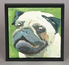 Pug Framed Original Painting