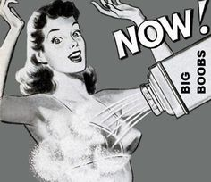 Big Boobs NOW! Vintage Powder Ad :)