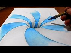 Drawing a Spiral Pattern Hole - Anamorphic Illusion - YouTube