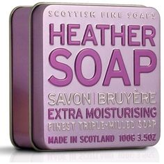 Scottish Fine Soaps Heather Soap Finest Triple Milled Soap Tin for Women, Fl Oz Scottish Heather, Soap Company, Bath Soap, Make Me Up, Love Hair, Soap Making, Stocking Stuffers, Hair And Nails, Bath And Body