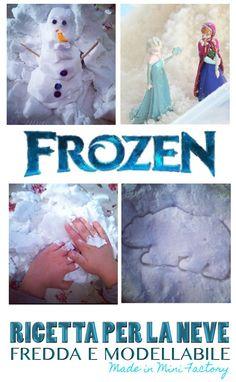 MiniFactory: Neve fatta in casa - Ricetta Prepara la tua neve ispirata al regno dei ghiacci di Frozen! E' fredda, modellabile e magica, pronta in 5 minuti! Per i piccoli amanti di Frozen! Make Your Own Frozen Snow - Recipe for Play -