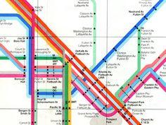 Italian designer Massimo Vignelli redesigned George Salomon's New York Subway map