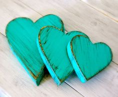 teal hearts Love this ! beautiful  color thank you so much !! ^_^ ♥